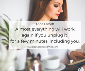Unplug Saturday quote