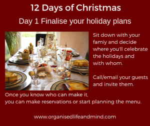 12 Days of Christmas Day 1 Celebrate