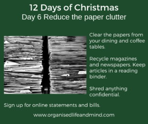 12 Days of Christmas Day 6 Paper