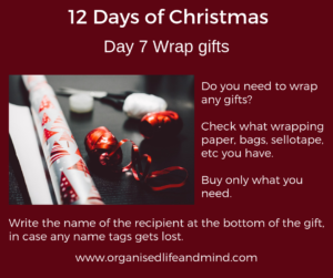 12 Days of Christmas Day 7 Gift wrapping