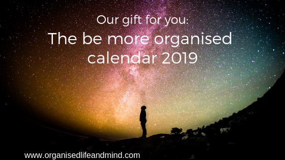 The be more organised calendar 2019