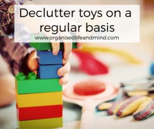 Declutter toys children