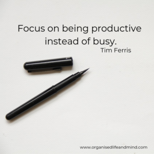Saturday quote Focus on being productive instead of busy