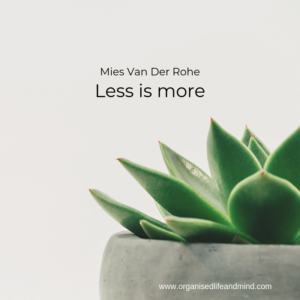 Saturday quote Less is more
