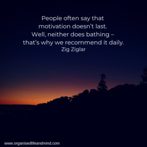 Motivation daily calendar