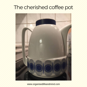 Letting go cherished coffee pot
