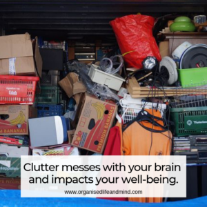 Clutter well-being stress