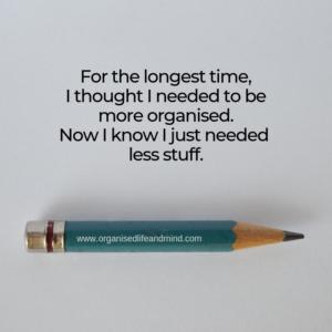 Need less stuff Saturday quote