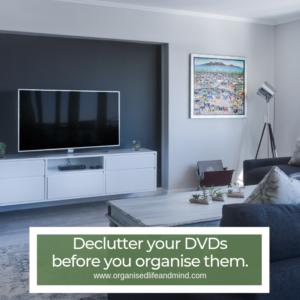 Declutter DVDs spring clean living room