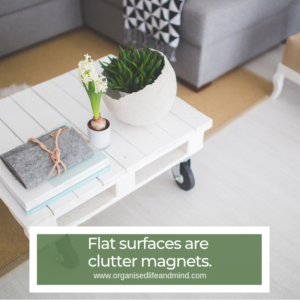 Flat surfaces clutter magnets spring clean living room