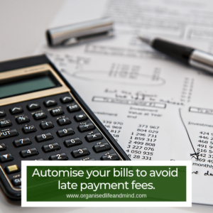 Automise bills being disorganised