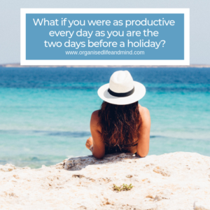 Productivity before a holiday
