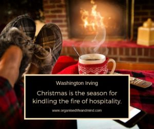 Christmas fire of hospitality