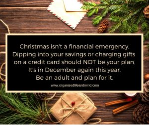 Christmas isn't a financial emergency