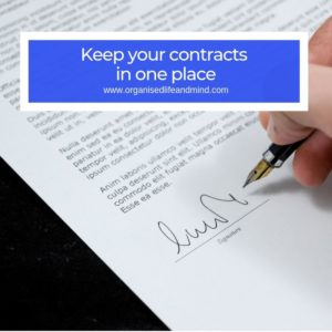 Contracts Family binder