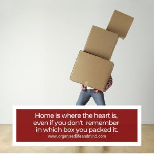 Home is where the heart is moving home stress