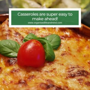 Cook casseroles make ahead