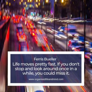 Life moves pretty fast Saturday quote