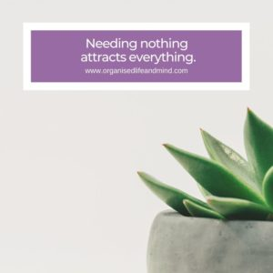 Needing nothing Saturday quote