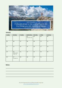 OLAM Calendar January 2020