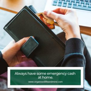 Emergency cash will
