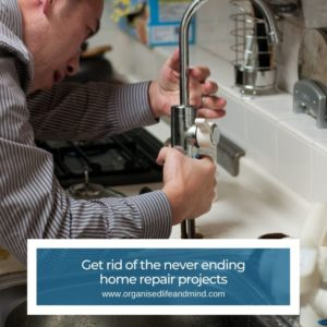 Get rid of home repair when downsizing
