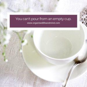 Pour empty cup