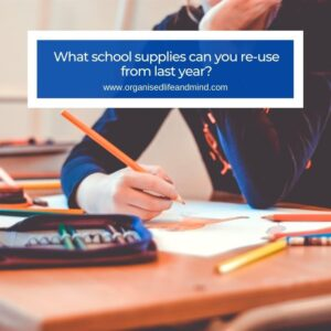 School supplies last year