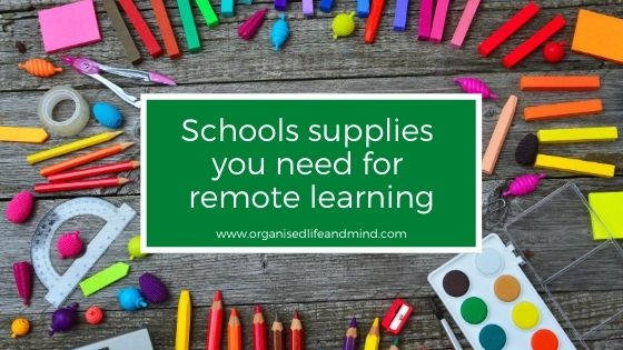 School supplies remote learning