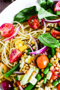 Spaghetti salad dinner