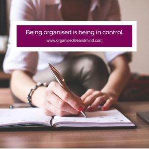 Being organised quote